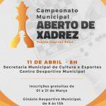 Secretaria de Cultura e Esportes de Afogados da Ingazeira vai promover Campeonato Municipal de Xadrez